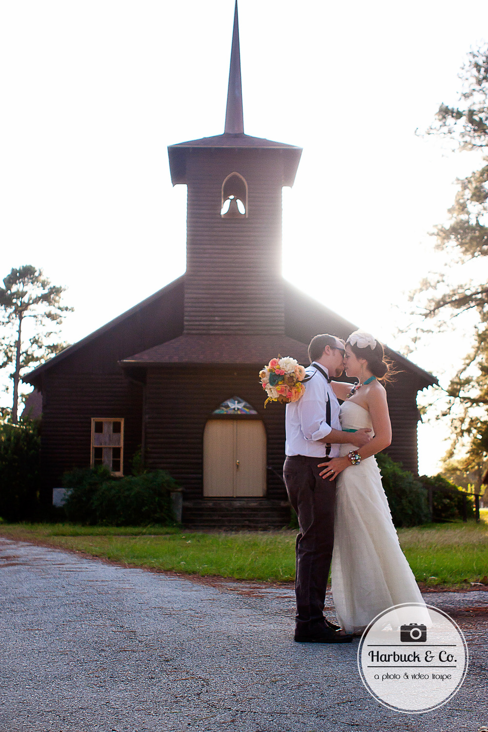 "Using an old chapel as a backdrop added to the ""Vintage"" theme of the photos."