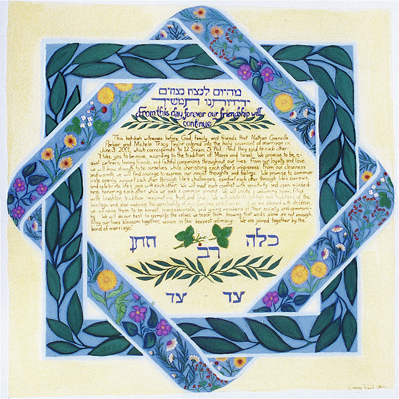 Wildflowers Custom Ketubah