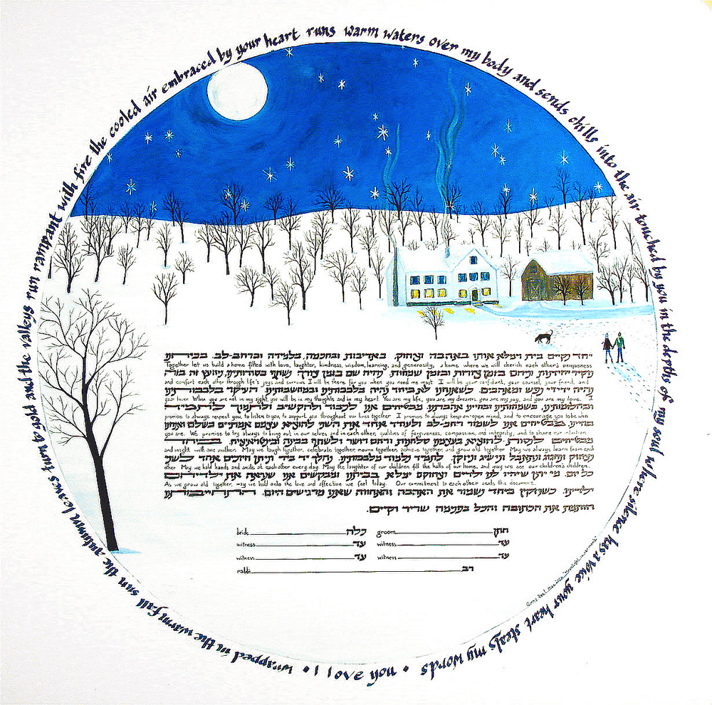 Warm Hearts Custom Ketubah