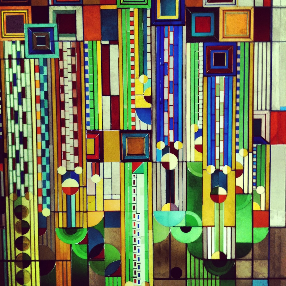 Frank Lloyd Wright - Stained Glass Jewel Tones