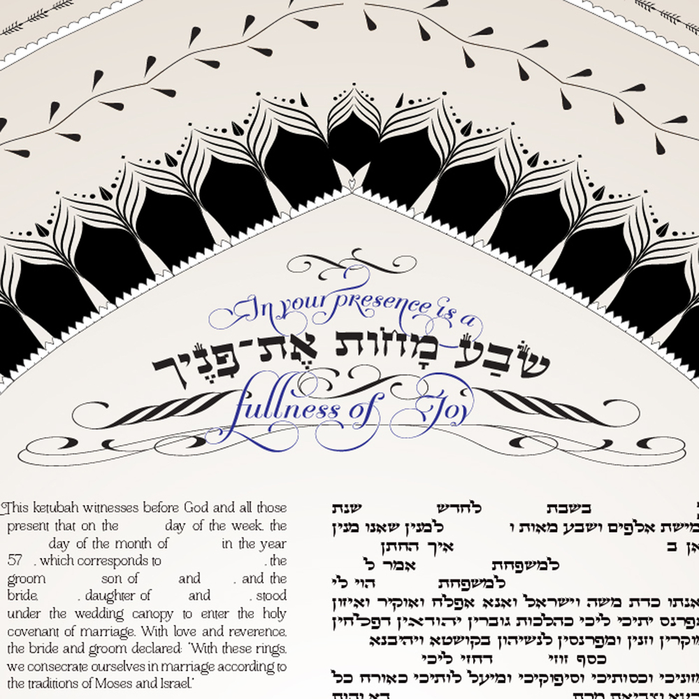 Fullness of Joy Ketubah detail 1
