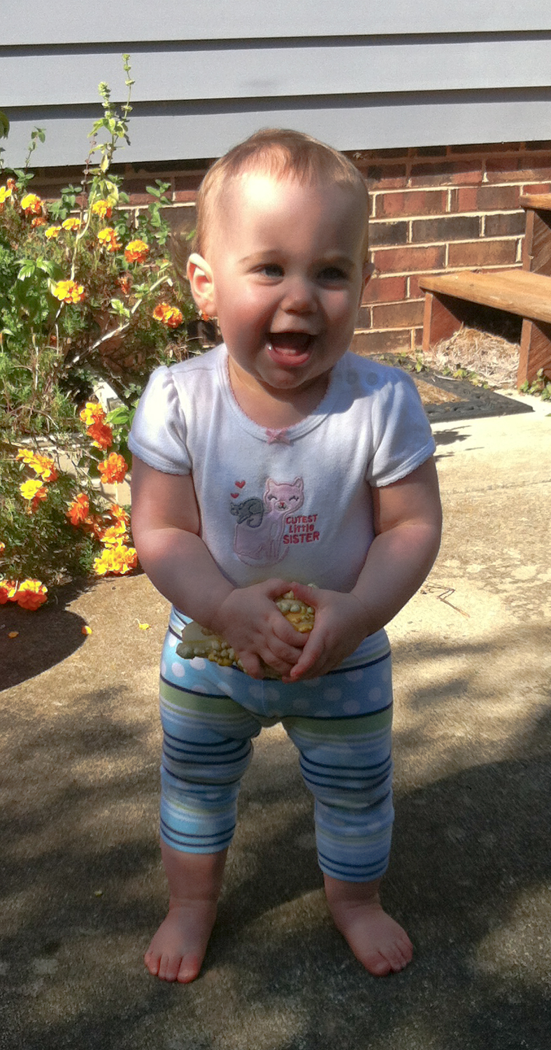 Sadie Reel Freirich at 11 months, October 2014.