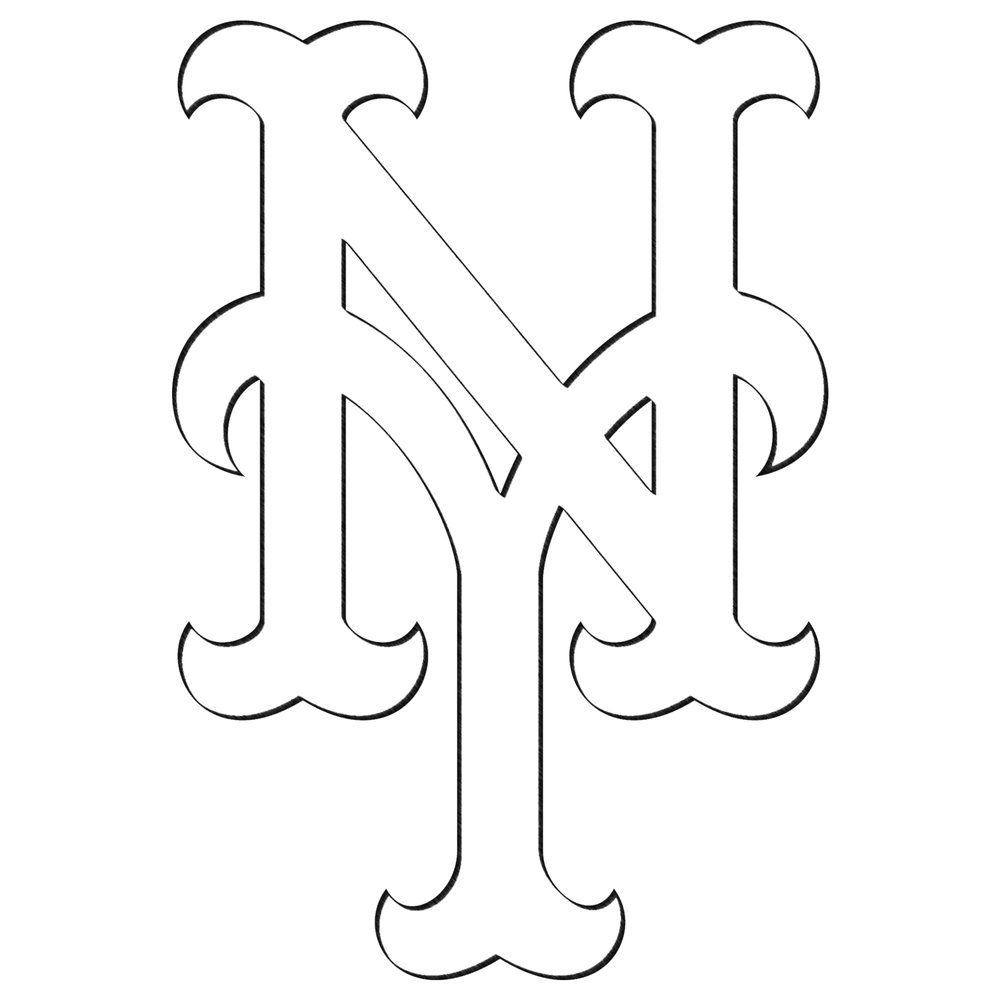 ny mets logo coloring pages - photo#12