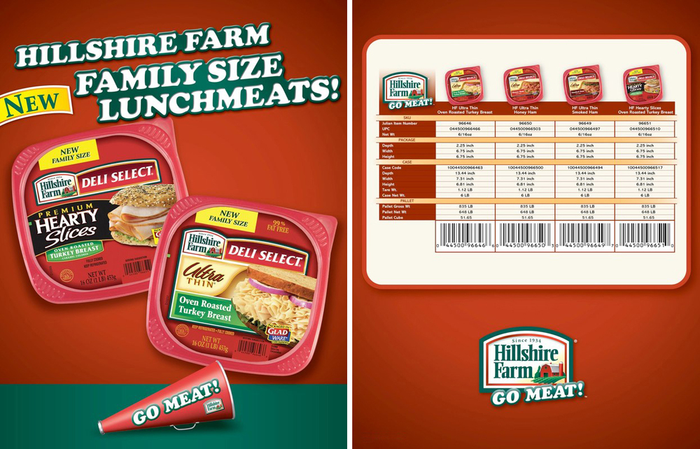 Hillshire Farm: Deli Select Spec Sheet