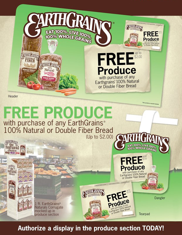 EarthGrains: Free Produce Promotion – Sell Sheet