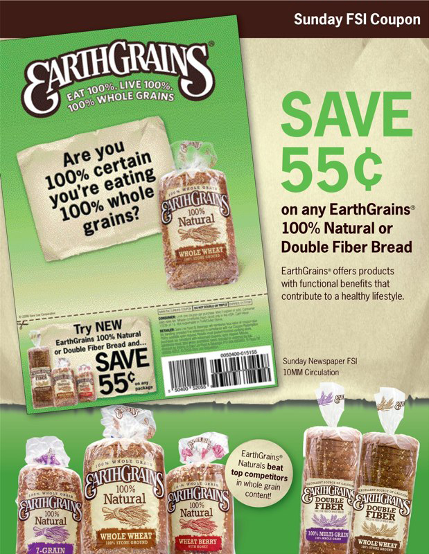 EarthGrains FSI Coupon – Sell Sheet V1