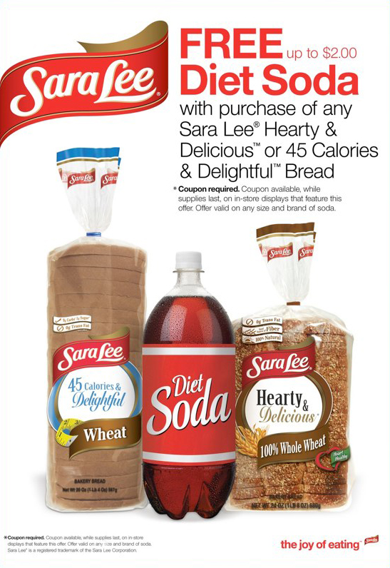 Sara Lee: Free Diet Soda Offer – Ad Slick