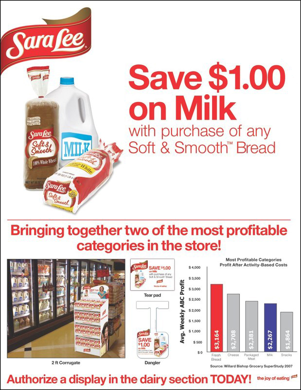 Sara Lee: Save on Milk Promotion – Sell Sheet