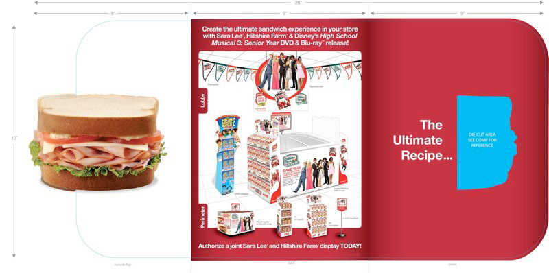 Sara Lee: HSM 3 Promotion – Brochure Outside