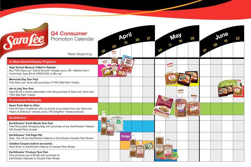 Sara Lee: Q4 Consumer Promotion Calendar
