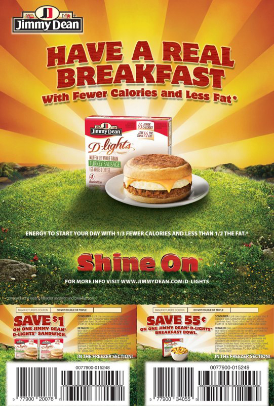 Jimmy Dean: Breakfasts – FSI V2
