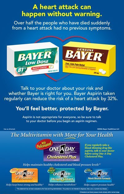 Bayer / One-A-Day: Print Ad