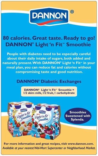 Dannon: Light n' Fit Smoothie – Print Ad