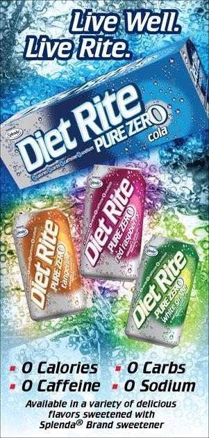 Diet Rite: Pure Zero – Print Ad