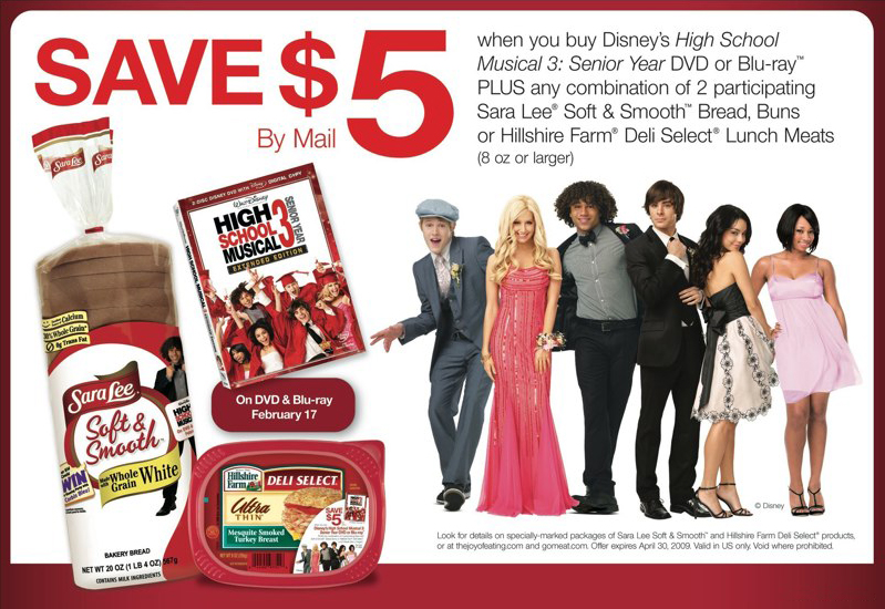 Sara Lee: HSM 3 Promotion – Ad Slick