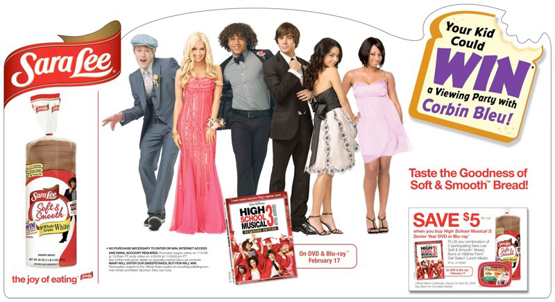 Sara Lee: HSM3 DVD Promotion – Header Card
