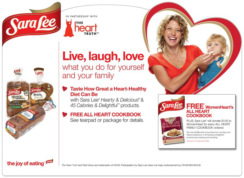Sara Lee: The Heart Truth Promotion – Header Card