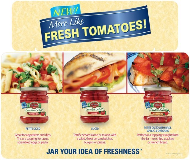 Del Monte Tomatoes: Tri-Fold Display