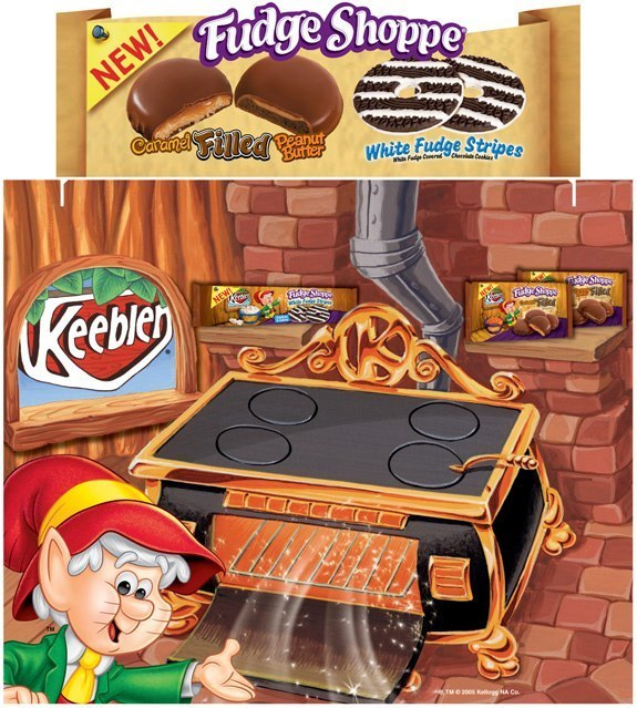 Keebler Fudge Shoppe Tri-Fold Display