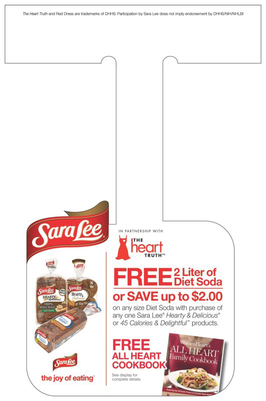Sara Lee: The Heart Truth Offer – Wobbler