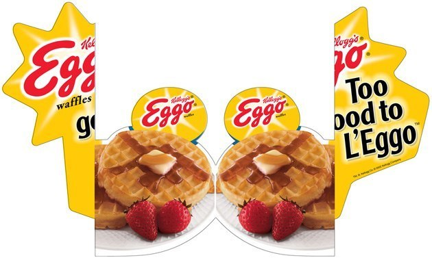 Kellogg's Eggo: 3D Freezer Door Cling