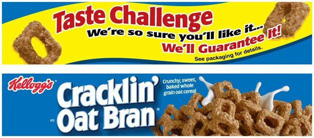 Kellogg's Cracklin' Oat Bran: Lenticular Shelf Strip