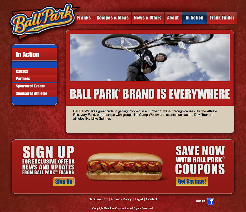 Ball Park: Website – 6 In Action