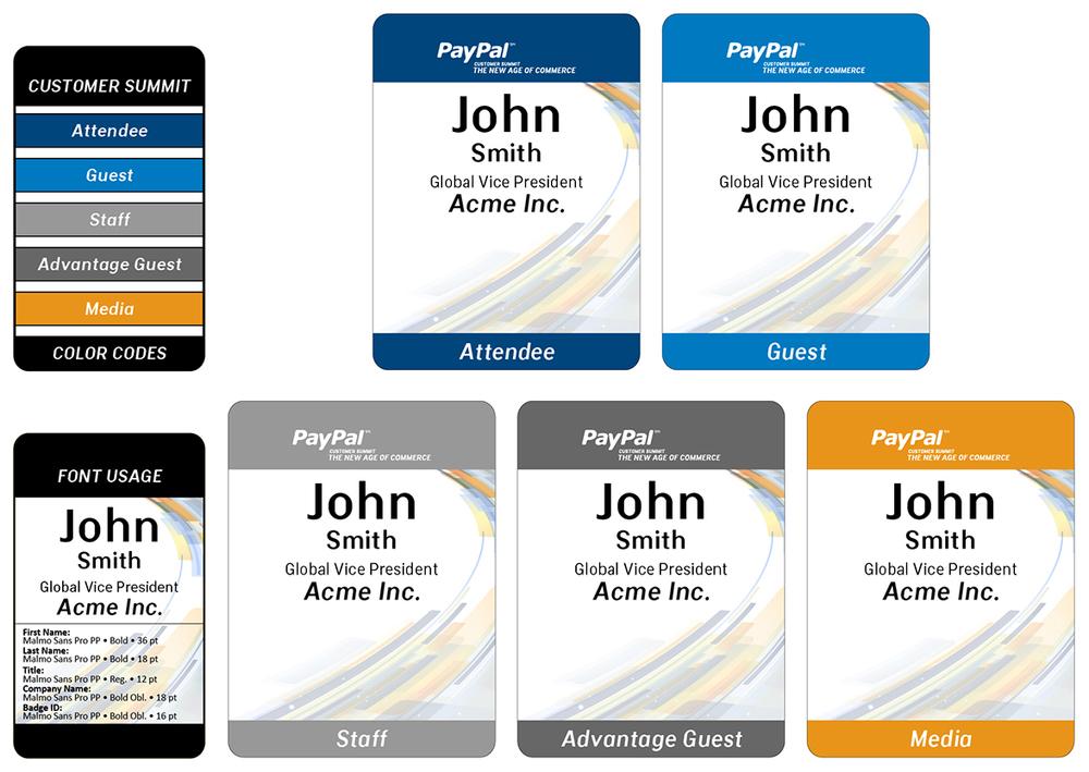 PayPal: Customer Summit – Name Badges