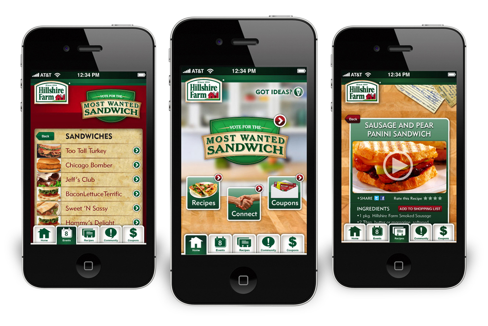 Hillshire Farm: Kitchen Savvy App
