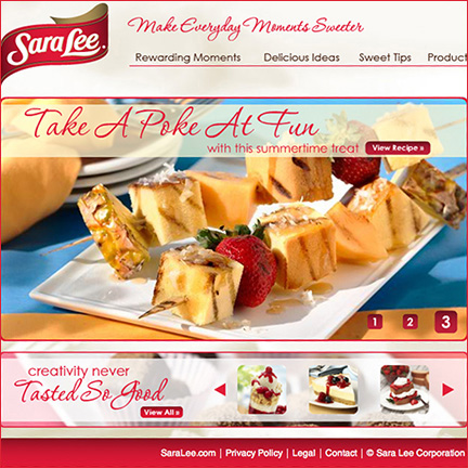 Sara Lee Desserts: Website & Social