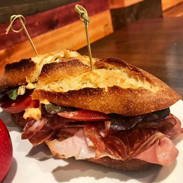 Another week, another visit to @TempestaMarket – today's pick, The Dante – Hot Soppressata, Mortadella, Finnochinoa, Hot Coppa, Porchetta, Provolone, Giardiniera, 'Nduja Aioli, Lettuce, and Tomato on a Baguette from @AyaPastry . . . #dante #italian #sandwich #tempesta #market #tempestamarket #westtown #chicago #deli #restaurant #neighborhoodjoint #chicagodeli #chicagofood #chicagofoodie #chicagogram #yummy