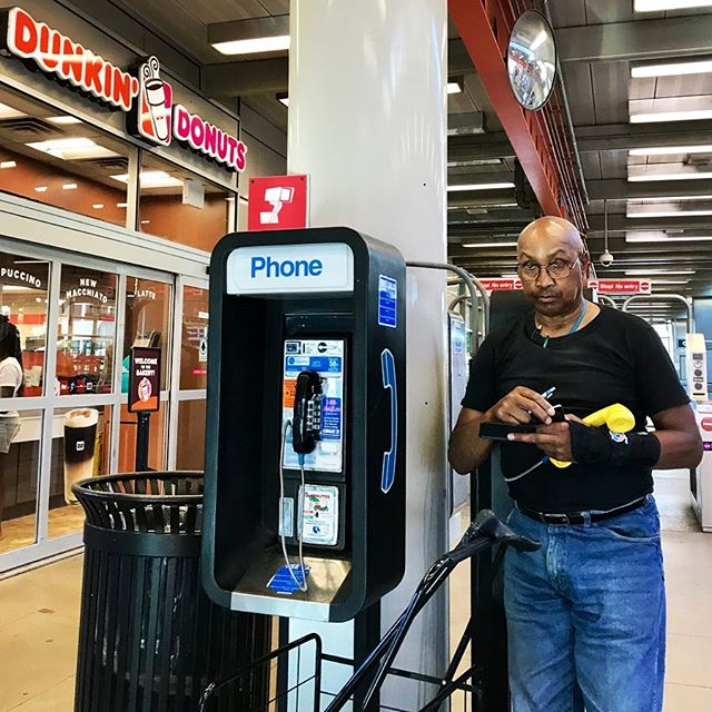 Chicago Midway International Airport, Monday, July 2, 6:30 pm . . #Chicago #Street #Scene #Portrait #ChicagoStreets #PeopleOfChicago #PortraitPhotography #StreetPhotography #StreetScene #StreetPortrait #Art #ArtIsEverywhere #ArtofChi #Midway #MidwayAirport #CTA #DunkinDonuts #Donuts #PayPhone #aogc #AmbassadorOfGoodCheer