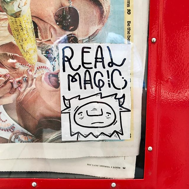 @_pennypinch_ always workin' that real magic! . . #pennypinch #real #magic #realmagic #sticker #art #stickerart #streetart #chicago #streetarteverywhere #streetartphotography #streetartistry #streetartchicago #chicagostreetart #ambassadorofgoodcheer #aogc
