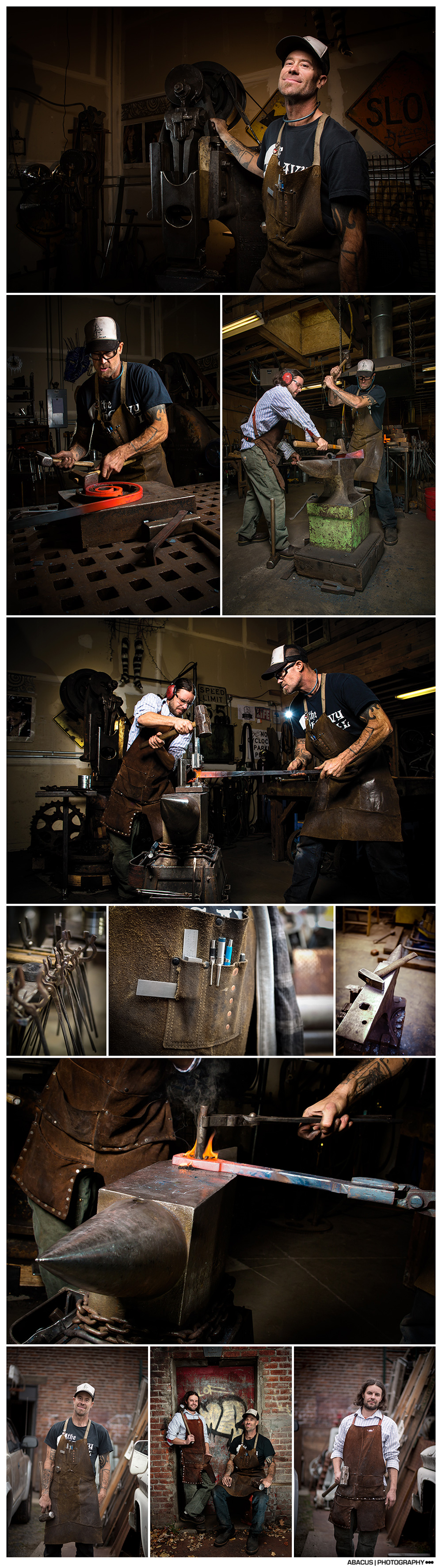 BEND OREGON BLACKSMITH ••• EDITORIAL PHOTOGRAPHY