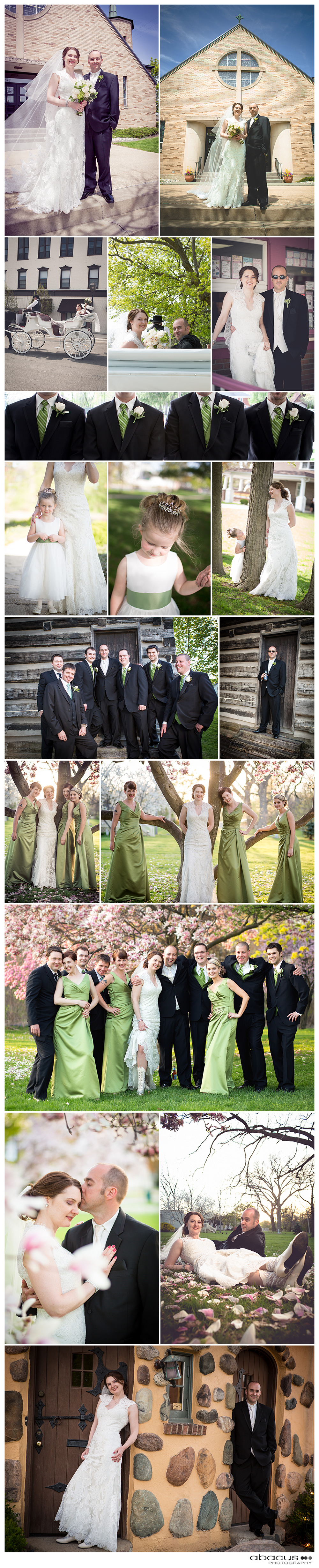 Central Oregon wedding photographer travels to Michigan to photograph an amazing Spring wedding.