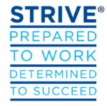 STRIVE Logo - Job Training Program
