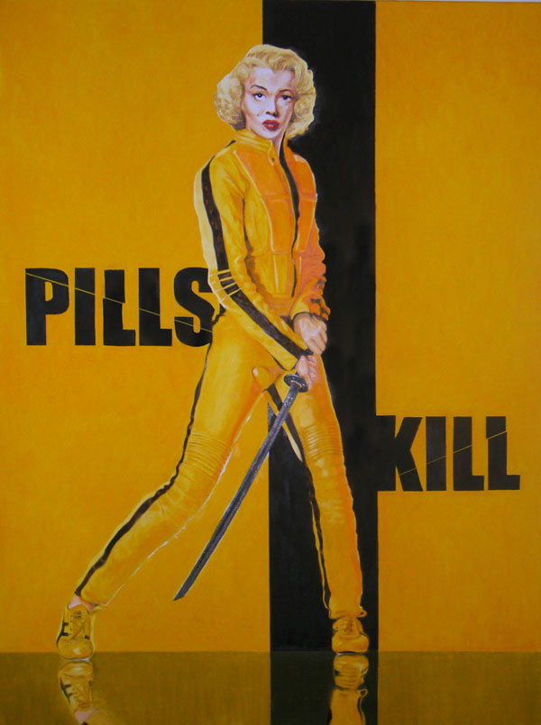 Pills Kill,  2012, oil on canvas