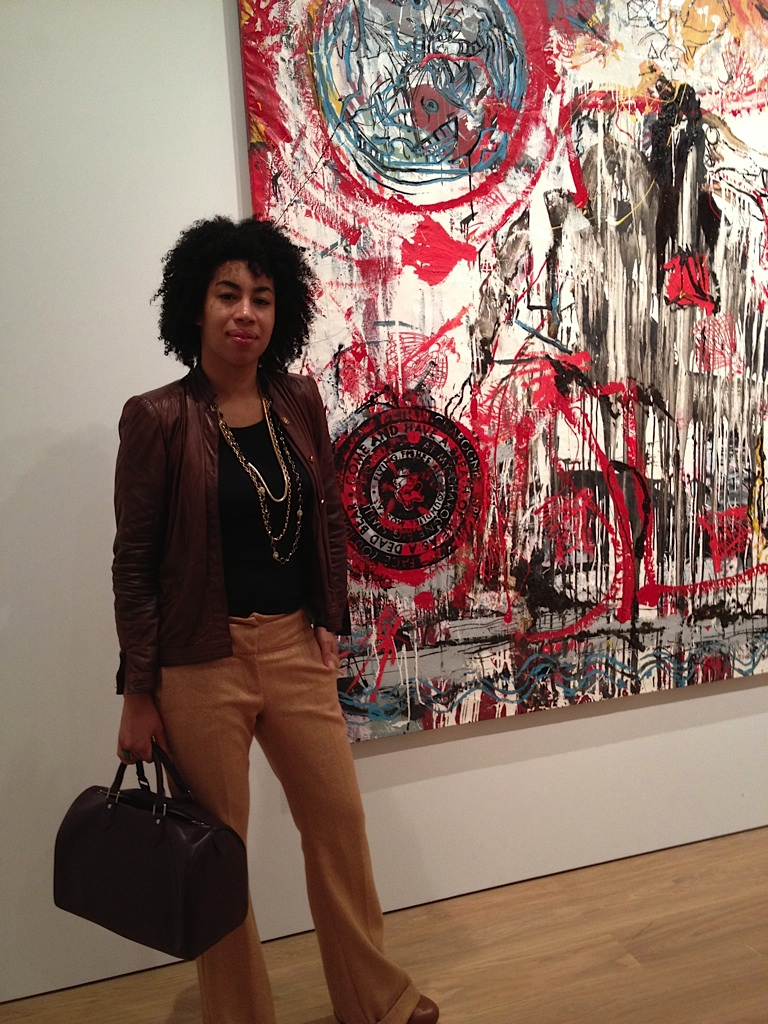 Standing in front of a Nicholas Pol painting.