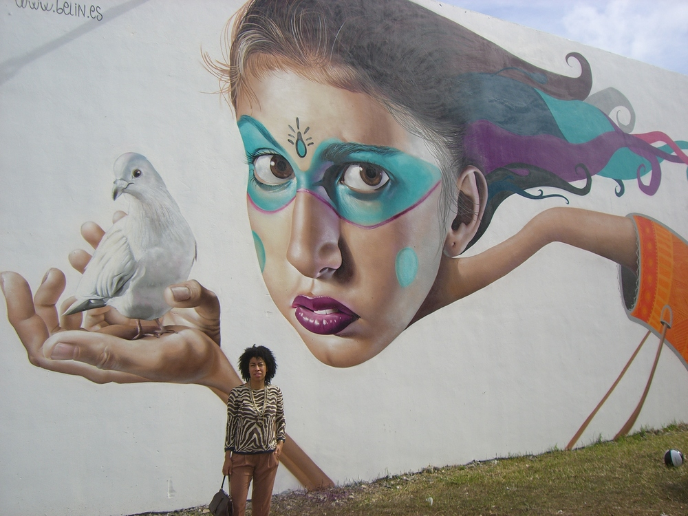 Mural by Spanish grafitti muralist Belin
