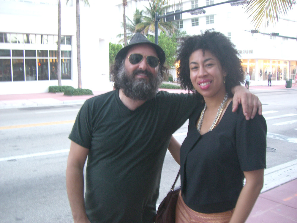 Posing with Thierry Guetta aka Mr. Brainwash