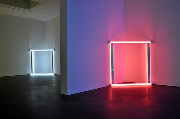 Modern masters Donald Judd and Dan Flavin pack a double punch at David Zwirner's new 20th Street space. The works were well positioned on three levels of this multi-level space , offering a sense of serenity and calmness for the observer to really ingest the work.