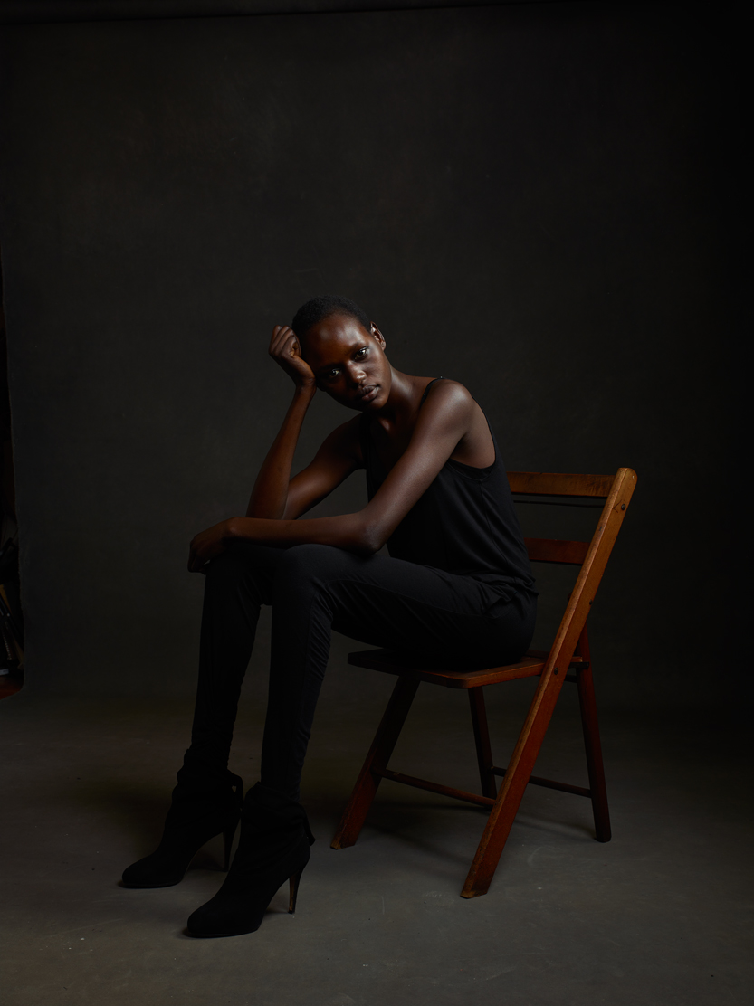 Supermodel/refugee/activist Ajak Deng.Photo by Mike Mellia.