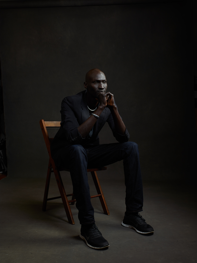 Actor/humaniatarian/former 'child soldier' Ger Duany. Photo by Mike Mellia.
