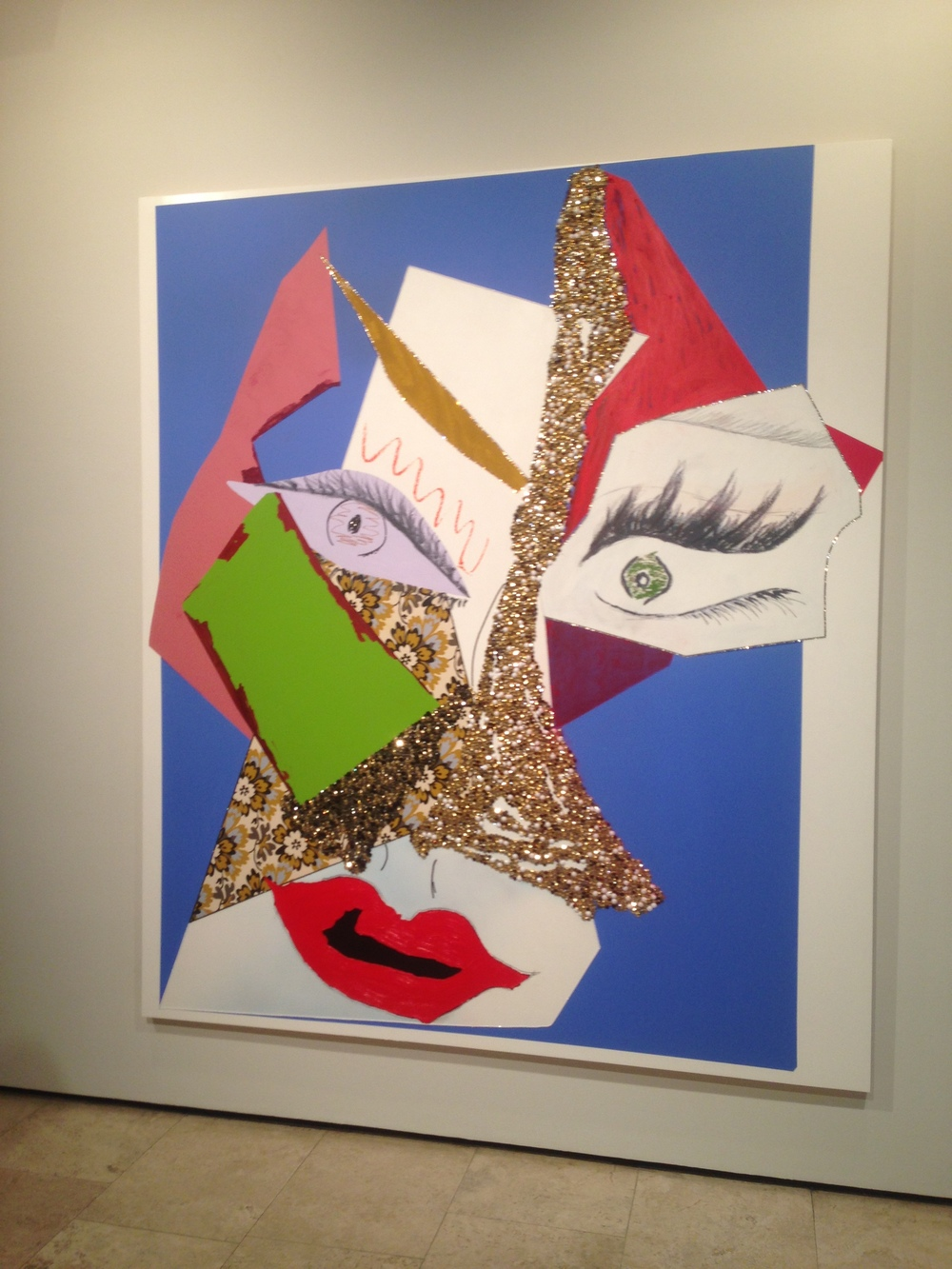 From 'Tete de Femme' by Mickalene Thomas at Lehmann  Maupin, New York.