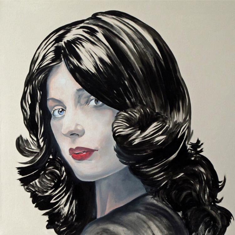 Noah Becker, Love in Black, 2012, oil on canvas, 30 x 30 inches. Courtesy of the artist.