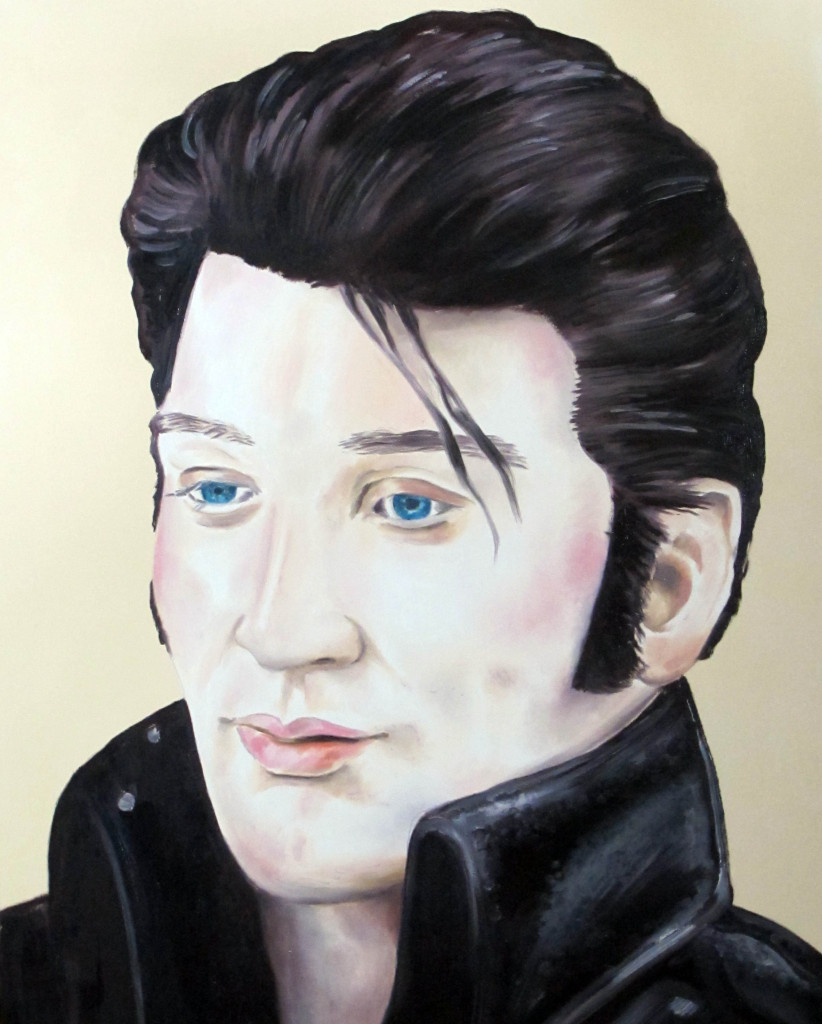 Noah Becker, Elvis, 2014, oil on canvas, 24 x 30 inches. Courtesy of the artist.