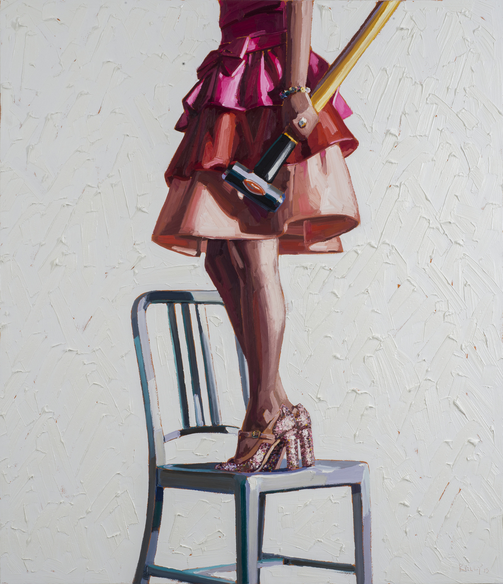 Smashing, 2015, oil on panel, 56 in x 48 in.