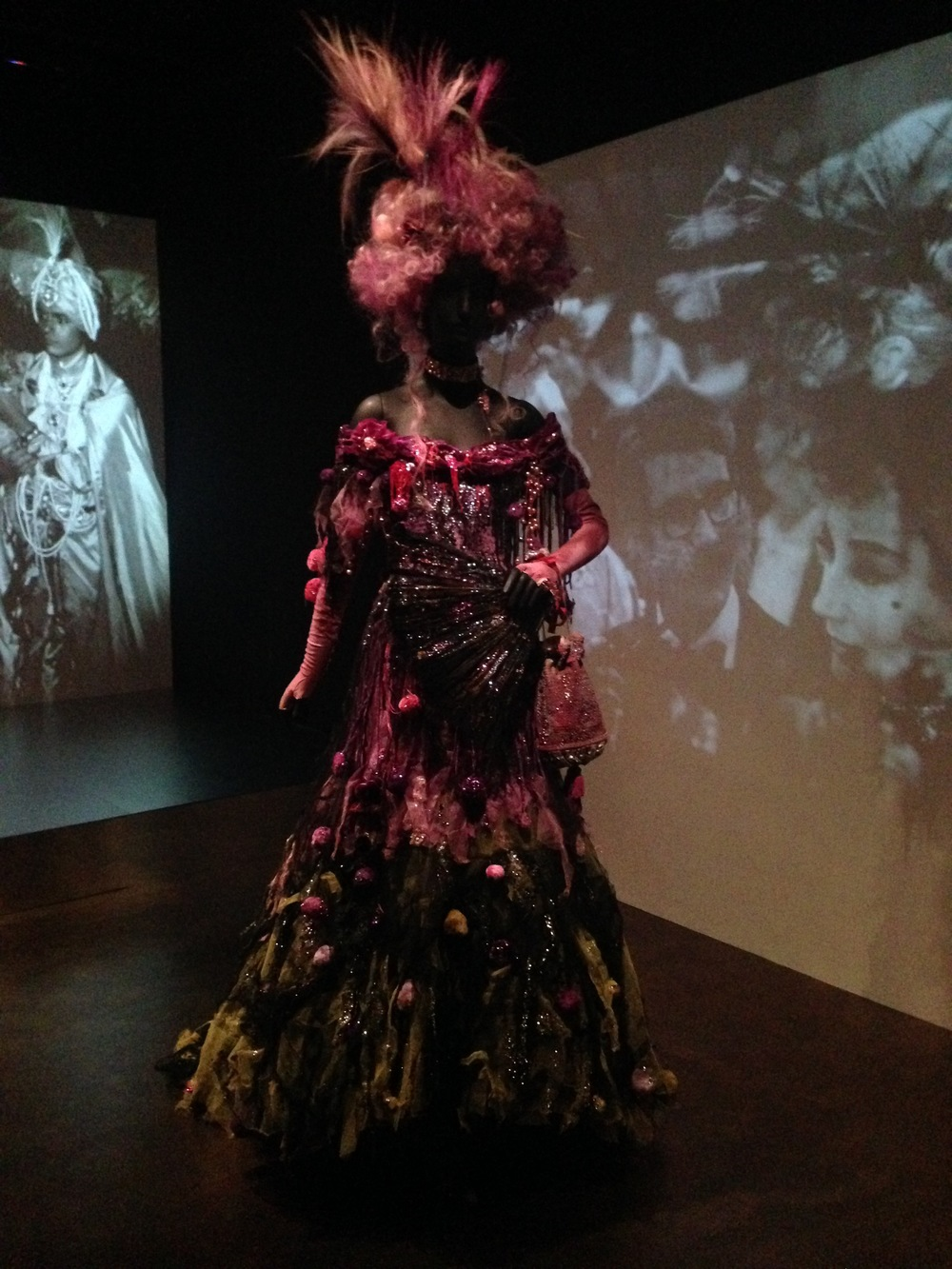 Installation view from Jacqueline De Ribes: The Art of Style, New York.