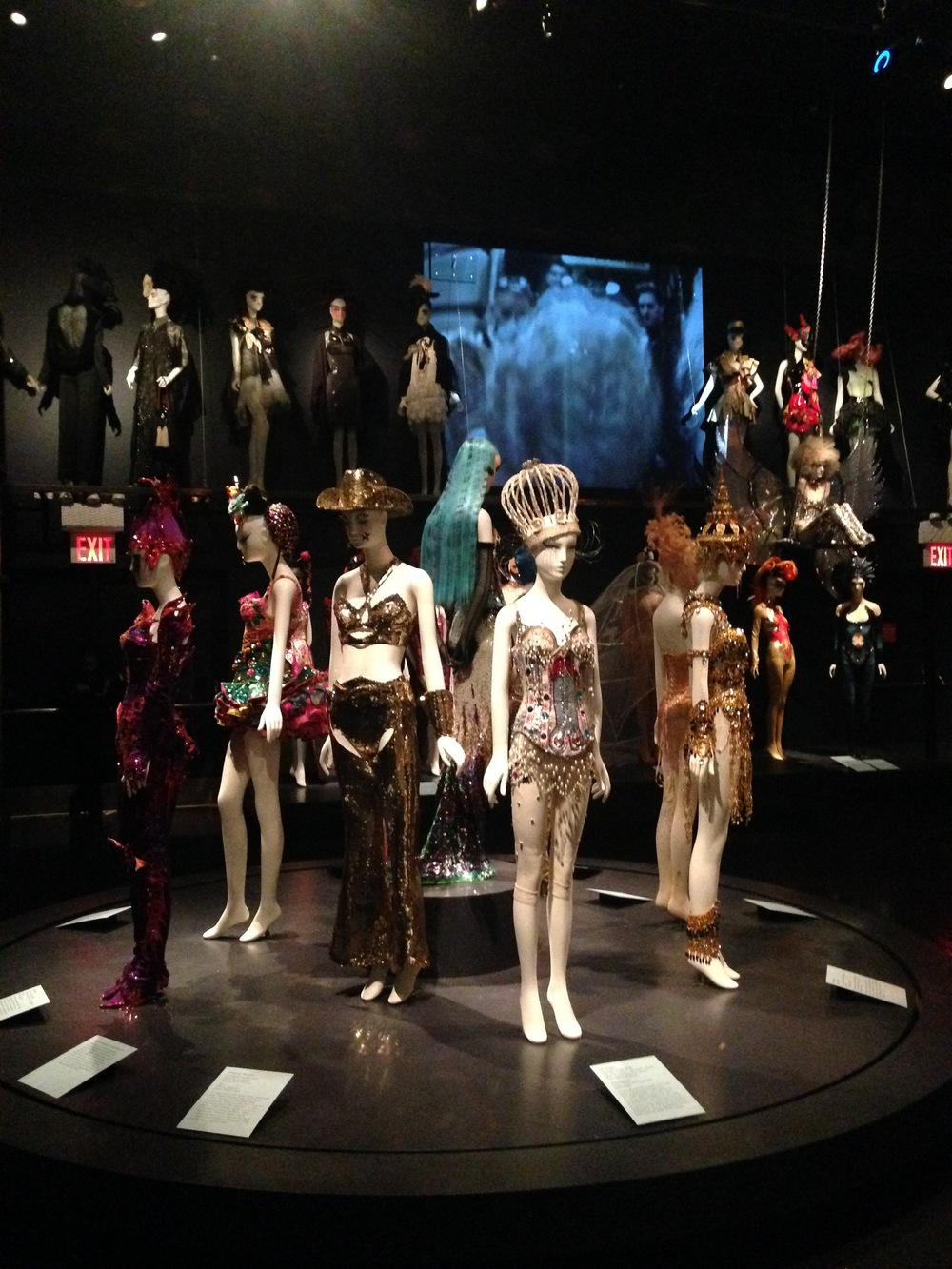 Installation view of 'Fashion Underground: The World of Susanne Bartsch', The Museum at FIT.