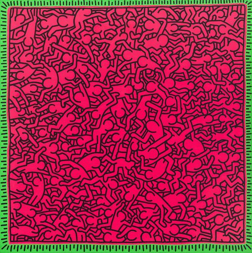 Untitled (June 1, 1984), 1984 acrylic and fluorescent acrylic on canvas 94 x 94 inches (238.8 x 238.8 cm.)
